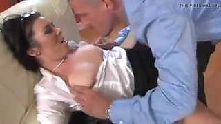 Hot office sex started with a fingering
