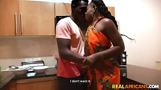 Sexy African Queen Capitu gets Fucked Hard On Sink