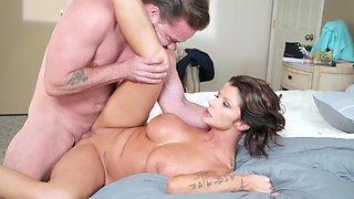 Big ass milf enjoys sex with her step son