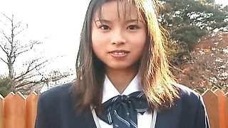 Japanese teen sucks and swallows teacher cock uncensored