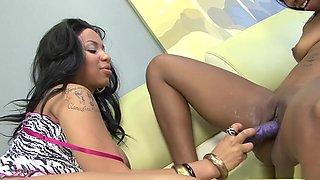 Amazing pornstars Desiree Diamond and Tia Cherry in best tattoos, blowjob porn clip