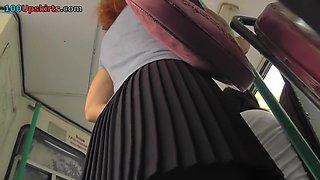 Kick-butt redhead mother i'd like to fuck upskirt video