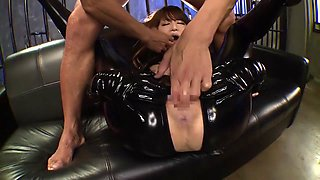 Fabulous Japanese girl Akiho Yoshizawa in Exotic latex, facial JAV movie