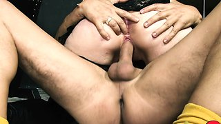HITZEFREI Tattooed German MILF milking a big cock