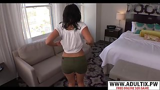 Beauty stepmother amber suck hot her son