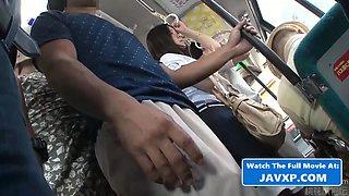 Hot asian schoolgirl fucked on the bus
