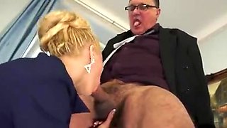 Incredible Slut Blond Blowjob Prostate Cum in Mouth