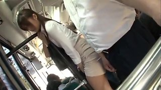 Japanese molested and wetting in the bus