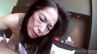 Hot Asian granny suck cock and fuck