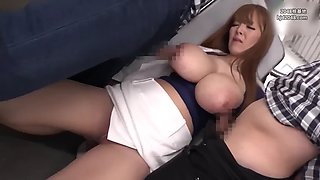 Japanese hard workers fuck stranger on the bus