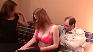 Family orgy w redhead daughter - FAMILY FUCK 11