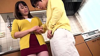 Stacked Oriental milf has two wild boys satisfying her needs