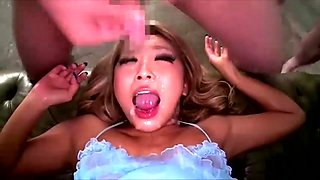 Amazing japan doll piss drinking   milk enema