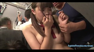 Jav Idol Imai Mai Ambushed On Bus Stripped And Fucked In Public Outrageous Scene