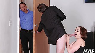 Wife sucks another man's cock and wants to fuck also