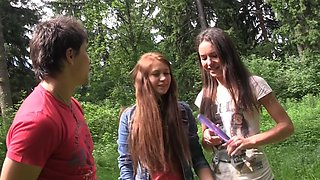 Albina & Hailey Ariana & Felony & Lindsey & Francheska & Angela in teenage porn with hot chicks shagging in nature