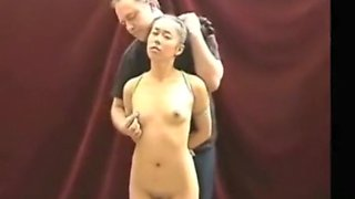 Asian Teen Dominated, Slapped & Choked By Master