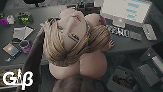 Secretary Samu's hot wife (3D animation)