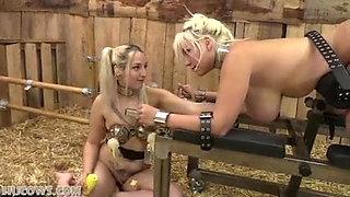 Hucow blondie and Liz milked