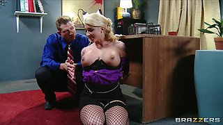 Compliant blonde secretary is dominated by her recent boss