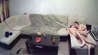 Cheating Brunette Amateur Riding Dick On Hidden Camera