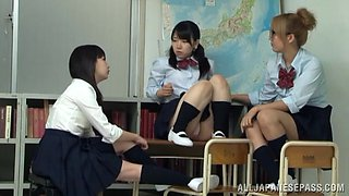 Naughty Asian teen in her school uniform gets hard fucking