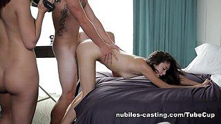 Nubiles-Casting Video: Cali Doe & Kristina Bell