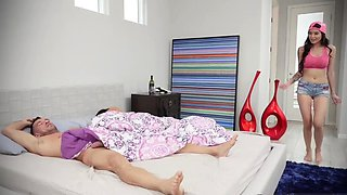 mother compeer's daughter xxx Family Shares A Bed