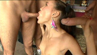 Amai Liu gets multipe facials