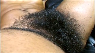 This slut is aware of the hair on her body and she is so hairy down there