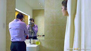 tricky guy fucks whore wife lucia love in bathroom