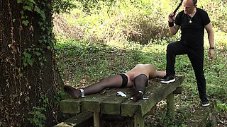 Submissive big tits teen fucked in bondage positions