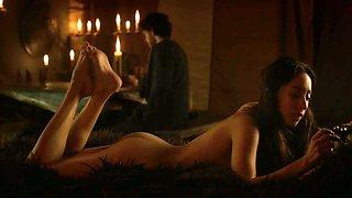 Got Oona Chapln Sex Scene No Music With Emilia Clarke And Rose Leslie