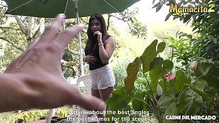 MamacitaZ - Carmen Lara - Big Tits Latina Picked Up For Oiled POV Drilling