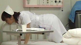 Amazing Japanese model Nozomi Osawa, Luna Kanzaki, Hinata Komine in Horny Nurse, Stockings JAV video