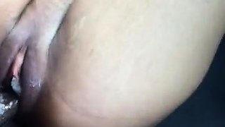 Horny ebony chick welcomes a black dick in her pink snatch