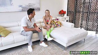 High school cutie Lily Larimar gets pregnant and asked for some advice