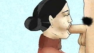 Hairy Mature Mom and her grown boy! Big animation!