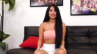 Mexican girl fucks in one of her first porn videos
