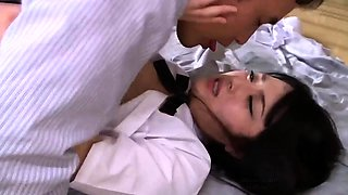 Lustful Asian schoolgirl obsessed with hard meat and hot cum