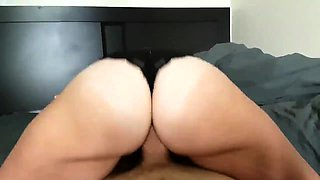Busty nympho in black lingerie takes a long dick for a ride