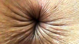 close up butthole winking