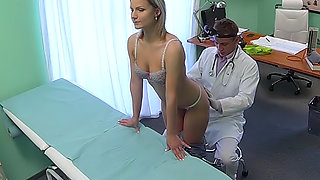 Stunning blonde wants doctor to prescribe his cock
