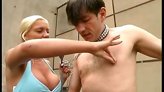 Busty mistress gets wild outdoors
