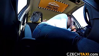 Beautiful Busty Model Squirts in Taxi Car