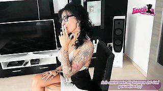 German big tits tattoo femdom milf smoke fetish