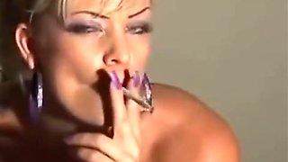 busty blonde mature slut erotic smoking