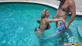 Ryan Conner is tattooed curvaceous slut who gets fucked in the pool