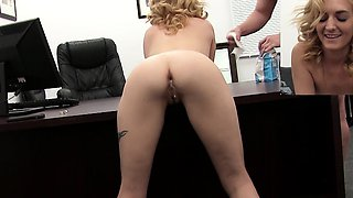 Skinny Blonde Anally Auditions for Casting Couch Creep