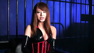Best Japanese chick Akiho Yoshizawa in Incredible latex, solo girl JAV movie
